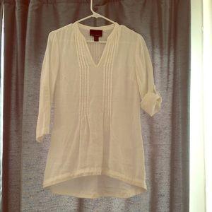 Cynthia Rowley Tunic Linen White XS